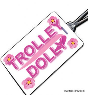 BA TROLLEY DOLLY Crew Tag